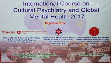 The International Course on Cultural Psychiatry and Global Mental Health 2017